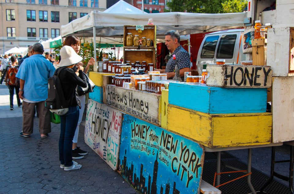 Visitando a Union Square Greenmarket em Nova York